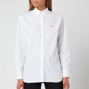 Maison Kitsuné Women's Fox Head Embroidery Classic Shirt - White