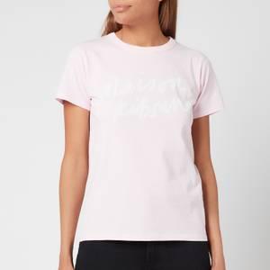 Maison Kitsuné Women's Handwriting Classic T-Shirt - Light Pink