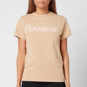 Maison Kitsuné Women's Parisienne Classic T-Shirt - Beige
