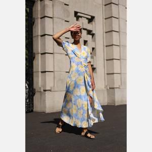 RIXO Women's Ariel Dress - Azela Bloom - Lilac Yellow