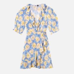RIXO Women's Nina Dress - Azela Bloom - Lilac Yellow
