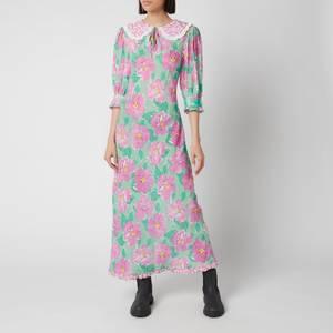 RIXO Women's Lauren Dress - Azalea Bloom Pink