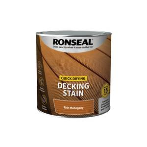 Ronseal Quick Drying Decking Stain Rich Mahogany 2.5L