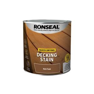 Ronseal Quick Drying Decking Stain Rich Teak 2.5L