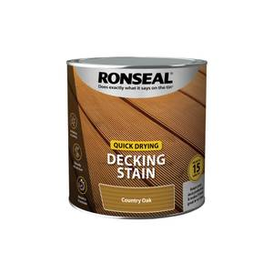 Ronseal Quick Drying Decking Stain Country Oak 2.5L