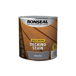 Ronseal Quick Drying Decking Stain Rocky Grey 2.5L