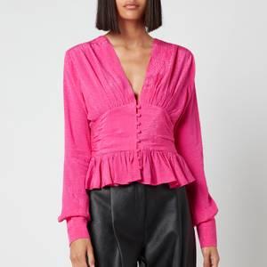 ROTATE Birger Christensen Women's Tracy Top - Fuchsia Pink
