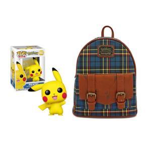 Pokemon Pikachu Loungefly Mini Backpack & Funko Pop! Vinyl Bundle