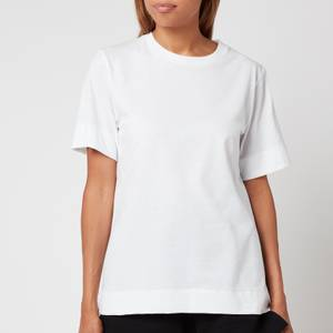 Ganni Women's Thin Software Jersey T-Shirt - Egret