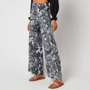 Faithfull The Brand Women's Sibyl Pants - Faye Paisley Print Charcoal