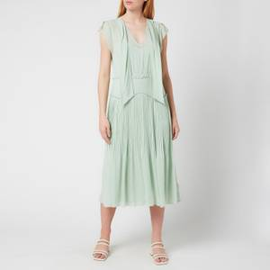 Coach Women's Sleeveless Uptown Dress - Pale Green