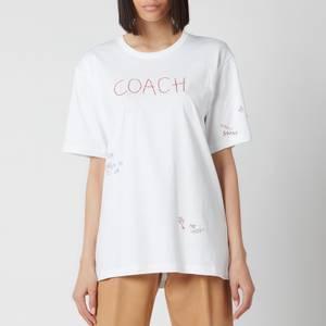 Coach Women's Hand Drawn Coach T-Shirt - Optic White