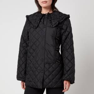 Ganni Women's Ripstop Quilted Jacket - Black