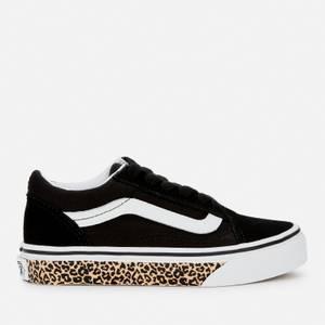 Vans Kids' Old Skool Trainers - Leopard/Black