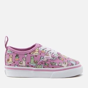 Vans Toddlers' Elastic Lace Llama Trainers - Orchid