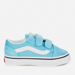 Vans Toddlers' Old Skool Velcro Trainers - Delphinium Blue