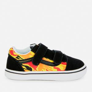 Vans Toddlers' Comfycush Old Skool Velcro Trainers - Flame Camo