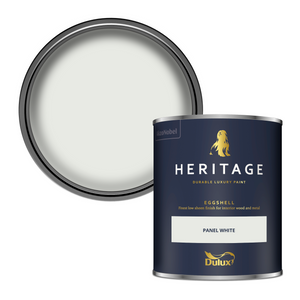 Dulux Heritage Eggshell Paint - Panel White - 750ml