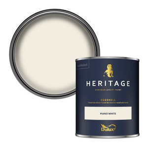 Dulux Heritage Eggshell Paint - Piano White - 750ml