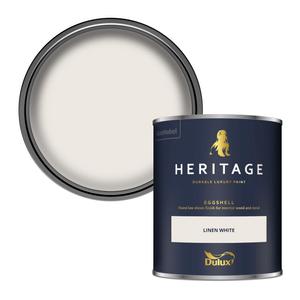 Dulux Heritage Eggshell Paint - Linen White - 750ml