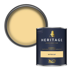 Dulux Heritage Eggshell Paint - Butter Cup - 750ml