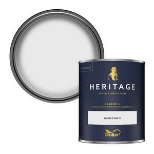 Dulux Heritage Eggshell Paint - Marble White - 750ml