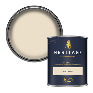 Dulux Heritage Eggshell Paint - Voile White - 750ml