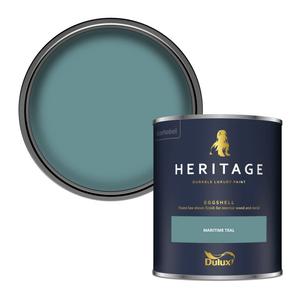 Dulux Heritage Eggshell Paint - Maritime Teal - 750ml