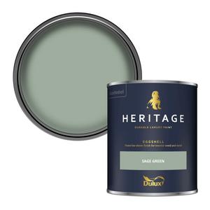 Dulux Heritage Eggshell Paint - Sage Green - 750ml
