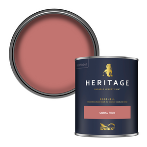 Dulux Heritage Eggshell Paint - Coral Pink - 750ml