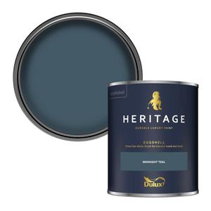 Dulux Heritage Eggshell Paint - Midnight Teal - 750ml