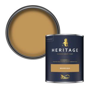 Dulux Heritage Eggshell Paint - Brushed Gold - 750ml