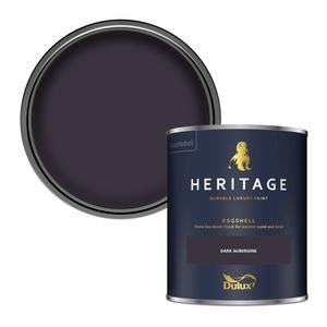 Dulux Heritage Eggshell Paint - Dark Aubergine - 750ml