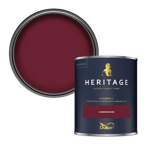Dulux Heritage Eggshell Paint - Florentine Red - 750ml