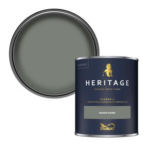 Dulux Heritage Eggshell Paint - Waxed Khaki - 750ml