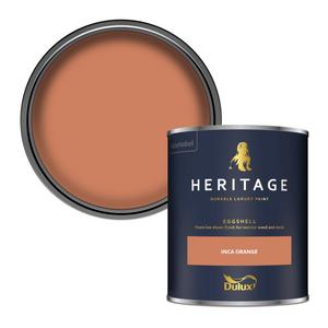 Dulux Heritage Eggshell Paint - Inca Orange - 750ml