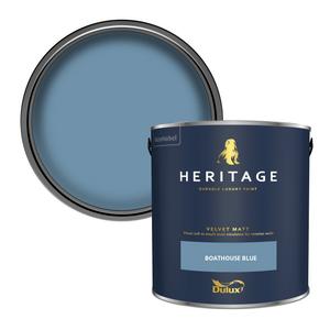 Dulux Heritage Matt Emulsion Paint - Boathouse Blue - 2.5L