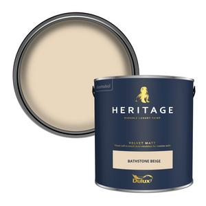 Dulux Heritage Matt Emulsion Paint - Bathstone Beige - 2.5L