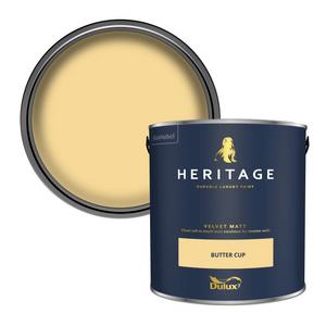 Dulux Heritage Matt Emulsion Paint - Butter Cup - 2.5L
