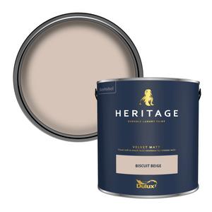 Dulux Heritage Matt Emulsion Paint - Biscuit Beige - 2.5L