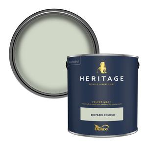 Dulux Heritage Matt Emulsion Paint - Pearl Colour - 2.5L