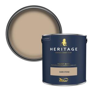 Dulux Heritage Matt Emulsion Paint - Dark Stone - 2.5L