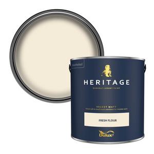 Dulux Heritage Matt Emulsion Paint - Fresh Flour - 2.5L