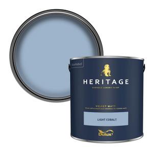 Dulux Heritage Matt Emulsion Paint - Light Cobalt - 2.5L