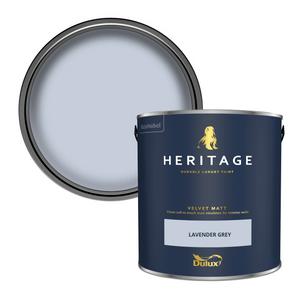 Dulux Heritage Matt Emulsion Paint - Lavender Grey - 2.5L