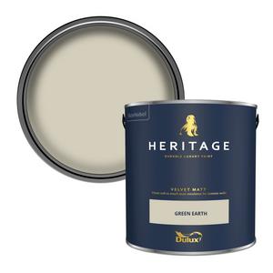 Dulux Heritage Matt Emulsion Paint - Green Earth - 2.5L