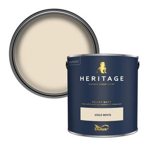 Dulux Heritage Matt Emulsion Paint - Voile White - 2.5L