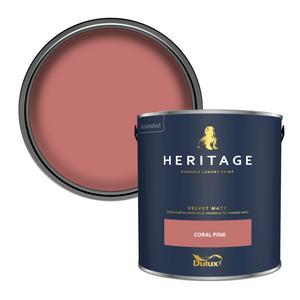 Dulux Heritage Matt Emulsion Paint - Coral Pink - 2.5L