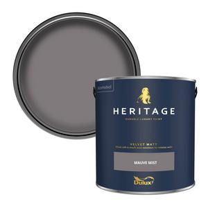 Dulux Heritage Matt Emulsion Paint - Mauve Mist - 2.5L