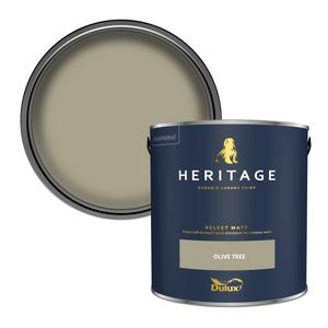 Dulux Heritage Matt Emulsion Paint - Olive Tree - 2.5L